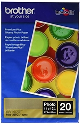 "Brother BP71GLGR Premium Glossy Photo Paper 11"" x 17"" - 20 sheets"