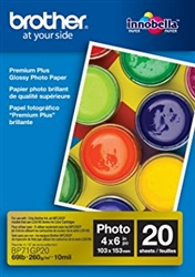 "Brother BP71GP20 Glossy Photo Paper 4"" x 6"" - 20 Sheets -"
