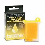 Brother LC02Y ( LC-02Y ) OEM Yellow Inkjet Cartridge