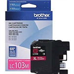 Brother LC103 ( LC-103 ) OEM Magenta High Yield Inkjet Cartridge