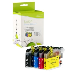 Brother LC103BK / LC103C / LC103M / LC103Y Compatible InkJet Cartridge Multipack