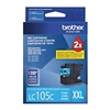 Brother LC105C ( LC-105C ) OEM Cyan High Yield Inkjet Cartridge