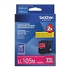 Brother LC105M ( LC-105M ) OEM Magenta High Yield Inkjet Cartridge