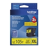 Brother LC105Y ( LC-105Y ) OEM Yellow High Yield Inkjet Cartridge