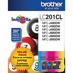 Brother LC2013PKS ( LC-2013PKS ) OEM Colour Inkjet Cartridges, Combo Pack
