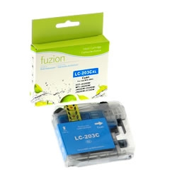 Brother LC203C ( LC-203C ) Compatible Cyan High Yield Inkjet Cartridge
