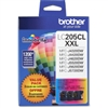 Brother LC2053PKS ( LC-2053PKS ) OEM High Yield Colour Inkjet Cartridges, Combo Pack