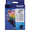 Brother LC205C ( LC-205C ) OEM Cyan High Yield Inkjet Cartridge