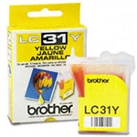 Brother LC31Y ( LC-31Y ) OEM Yellow InkJet Cartridge