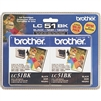Brother LC512PKS ( LC-512PKS ) OEM Black Ink Cartridge - Dual Pack