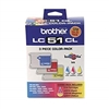 Brother LC513PKS ( LC-513PKS ) OEM Colour Ink Cartridges, Combo Pack