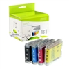 Brother LC51BK / LC51C / LC51M / LC51Y Compatible InkJet Cartridge Multipack