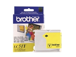Brother LC51Y ( LC-51Y ) OEM Yellow Ink Cartridge