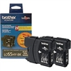 Brother LC652PKS ( LC-652PKS ) OEM Black High Capacity InkJet Cartridge (Dual Pack)