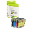 Brother LC65HYBK / LC65HYC / LC65HYM / LC65HYY Compatible InkJet Cartridge MultiPack