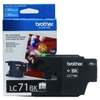 Brother LC71BK ( LC-71BK ) OEM Black InkJet Cartridge