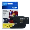 Brother LC71Y ( LC-71Y ) OEM Yellow InkJet Cartridge