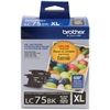 Brother LC752PKS ( LC-752PKS ) OEM Black High Capacity InkJet Cartridge (Dual Pack)