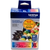 Brother LC753PKS ( LC-753PKS ) OEM Colour Ink Cartridges, Combo Pack