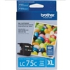 Brother LC75C ( LC-75C ) OEM Cyan High Capacity InkJet Cartridge