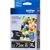 Brother LC75BK ( LC-75BK ) OEM Black High Capacity InkJet Cartridge