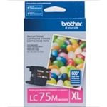Brother LC75 ( LC-75 ) OEM Magenta High Capacity InkJet Cartridge