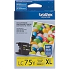 Brother LC75Y ( LC-75Y ) OEM Yellow High Capacity InkJet Cartridge