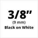 "Brother MK221 Compatible Black on White Non-Laminated Tape 9mm x 8m (3/8"" x 26'2"")"