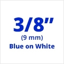 "Brother MK223 Blue on White Non-Laminated Tape 9mm x 8m (3/8"" x 26'2"")"