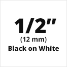 "Brother MK231 Black on White Non-Laminated Tape 12mm x 8m (1/2"" x 26'2"" long)"