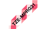 "Brother TZeMPRG31 Black on Red Gingham Patterned Laminated Tape 12mm x 5m (1/2"" x 16'4"")"