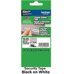 "Brother TZeSE4 Black on White Security Tape 18mm x 8m (3/4"" x 26'2"")"