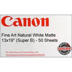"24/"" x 50/' Roll Canon Fine Art Natural White Matte Surface Inkjet Paper"