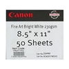 "Canon Fine Art Bright White Matte Paper (230 gsm) for Inkjet 8.5"" x 11"" - 50 Sheets (230gsm) - 0865V065"
