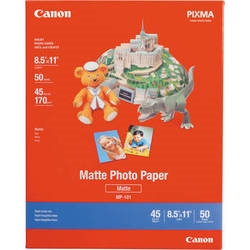 "Canon Photo Paper (Matte) for Inkjet MP101 8.5"" x 11"" - 50 Sheets (4 Pack) - 7981A004"