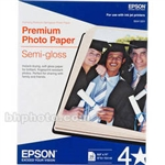 "Epson Premium Semi-Gloss Photo Paper for Inkjet 8.5"" x 11"" (Letter) - 20 Sheets - S041331"