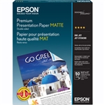 "Epson Double Sided Matte Paper for Inkjet 8.5"" x 11"" (Letter) - 50 Sheets - S041568"