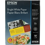 "Epson Bright White Paper 8.5"" x 11"" - 500 Sheets - S041586"