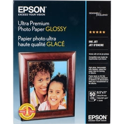 "Epson Ultra Premium Photo Paper Glossy 8.5"" x 11"" (Letter) - 50 Sheets - S042175"