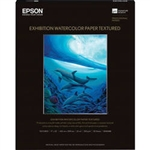 "Epson Exhibition Watercolor Paper Textured 17"" x 22"" - 25 Sheets - S045488"