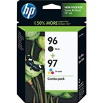 HP 96 / 97 ( C9353BN ) ( C9353FN ) OEM Combo Pack includes #96 Black and #97 Colour Ink Cartridges