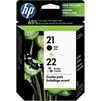 HP 21 / 22 ( C9509BN ) ( C9509FN ) OEM Combo Pack includes #21 Black and #22 Colour Ink Cartridges