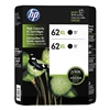 HP 62 XL ( J3P42BN ) OEM Black High Yield Inkjet Cartridge (Twin Pack)
