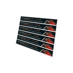 "OKI Shelf Strips 1.25"" x 11"" - 100 Sheets - 6 per Sheet - 52207401"