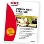 "OKI Premium Card Stock 110 lb 8.5"" x 11"" - 100 Sheets - 52208101"