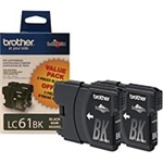 Brother LC612PKS ( LC-612PKS ) OEM Black Ink Cartridge - Dual Pack
