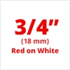 "Brother TZe242 Red on White Laminated Tape for Indoor and Outdoor Use 18mm x 8m (3/4"" x 26'2"")"