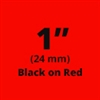 "Brother TZe451 Black on Red Laminated Tape for Indoor and Outdoor Use 24mm x 8m ( 1"" x 26'2"")"